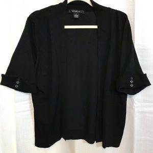 Black Elbow Sleeve Cardigan